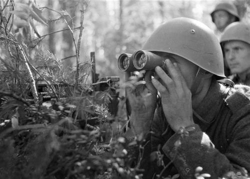 Пулеметный расчет в окрестности коммуны Нуиямаа. 15 июля 1941 г.