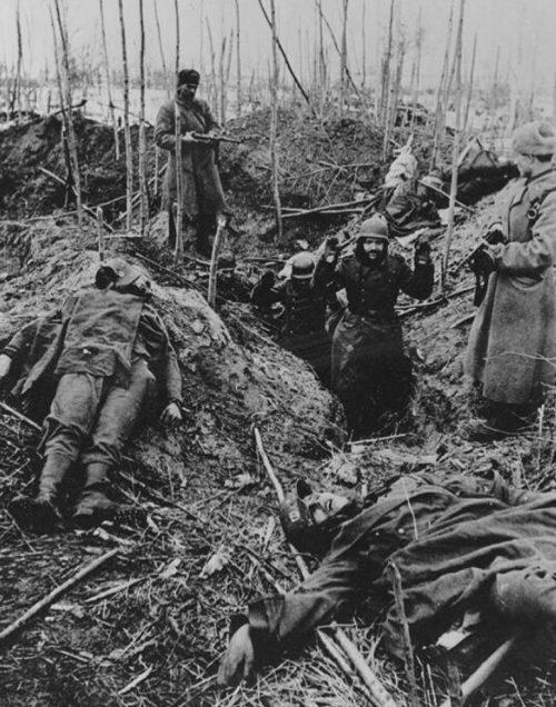 Немецкие пленные. Февраль 1943 г.
