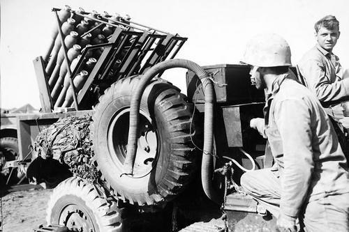 Обстрел Иводзимы ракетами. Февраль 1945 г.