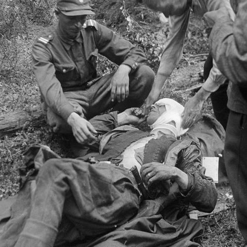 Раненный финский офицер. Омелия, 24 июля 1941 г.