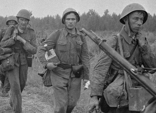 Пехотинцы в Энкиленсало. 2 августа 1941 г.