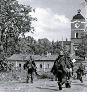Финские солдаты в Лахденпохье. 8 августа 1941 г.