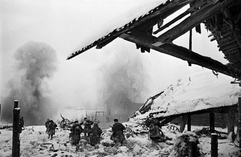 Бой за деревню на Волховском фронте. 1944 г.