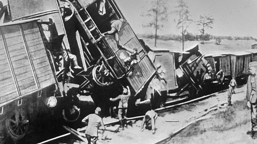 Подорванные партизанами эшелоны. 1943 г.
