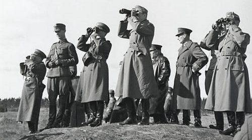 Маннергейм на передовой. Раджаоки, август 1941 г.