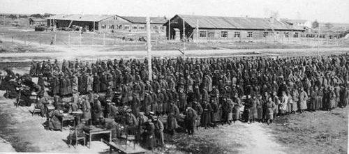 Регистрация военнопленных в Олонецкой Карелии. 1941 г.
