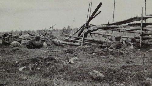 Финские солдаты на оборонительных боевых позициях в Прияся. Сентябрь 1941 г.