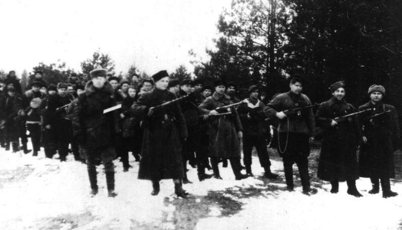 Партизанская бригада имени Пархоменко. Февраль 1944 г.