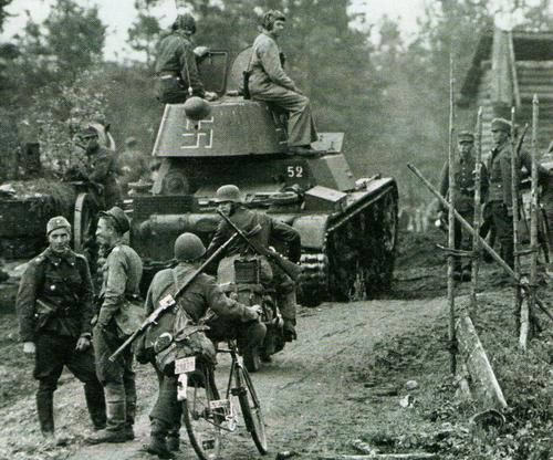 Егерская группа наступает в Олонецкой Карелии. Осень 1941 г.