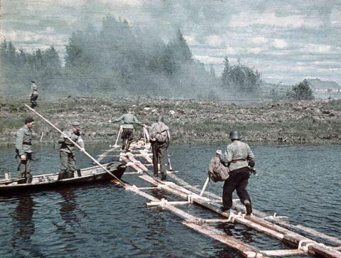 Переправа под Олонецкой Карелией. 1941 г.