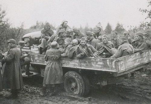 Советские военнопленные в Карелии. Осень 1941 г.