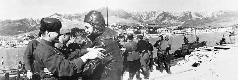 Партизаны в Ялте. 1944 г.
