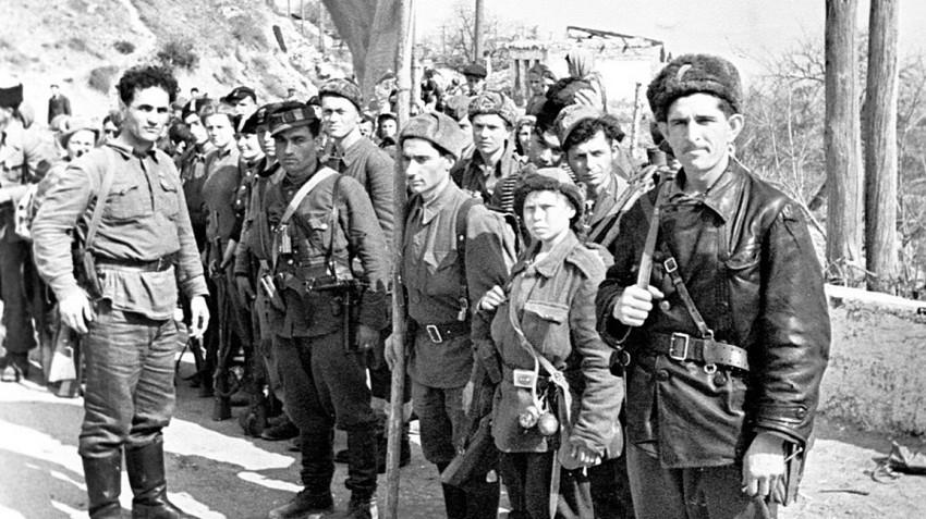 Партизаны в Симеизе. 1944г.