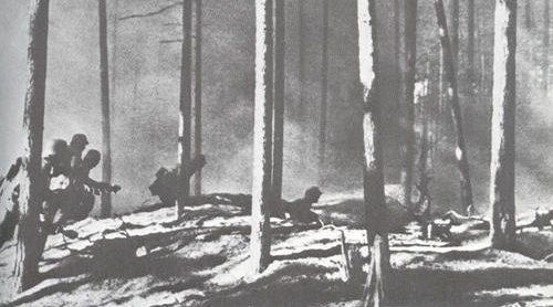 Атака финских солдат. 1941 г.
