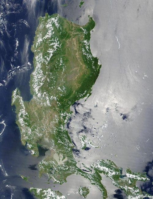 Вид на остров Лусон с космоса.