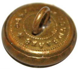 Пуговицы РККА образца 1924 года, изготовленные из латуни с мелкой шагренью.