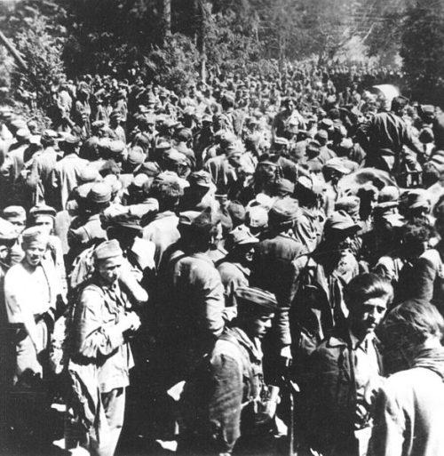 Военнопленные словенцы.