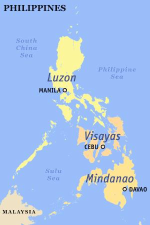 Висайские острова на карте.