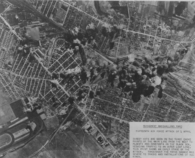 Бомбардировка железнодорожного узла Бухареста. 4 апреля 1944 года.
