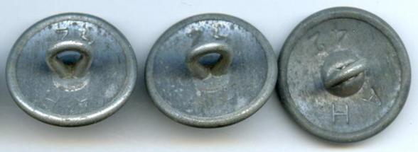Пуговицы береговой артиллерии Кригсмарине диаметром 21 мм.