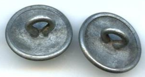 Пуговицы госслужащих диаметром 18 мм, изготовленные из цинка.