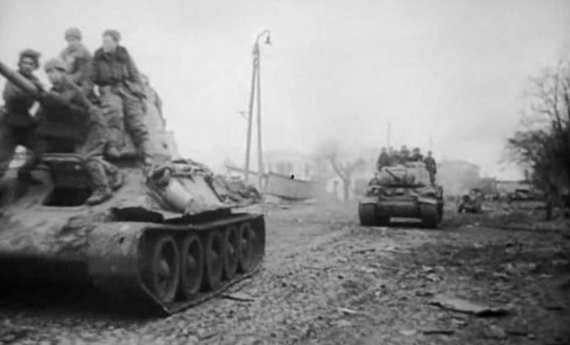 Наступление советских войск.