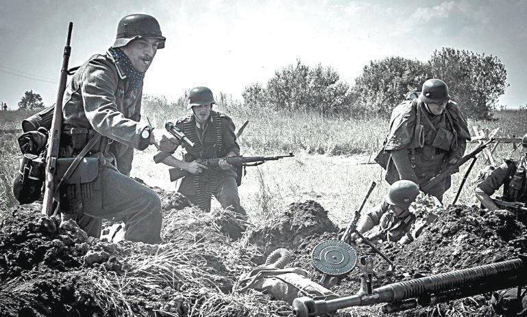 Контратака немецких войск.