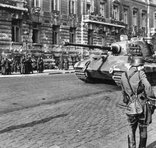 Немецкие войска в Будапеште.