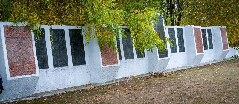 г. Карловка. Стела, установленная в 1957 году на братской могиле советских воинов, погибших в годы войны.