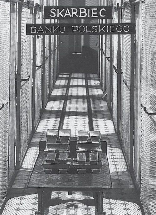 Хранилище Банка Польши в 1930-е годы.