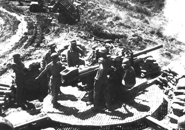Американская артиллерия на острове Негрос.