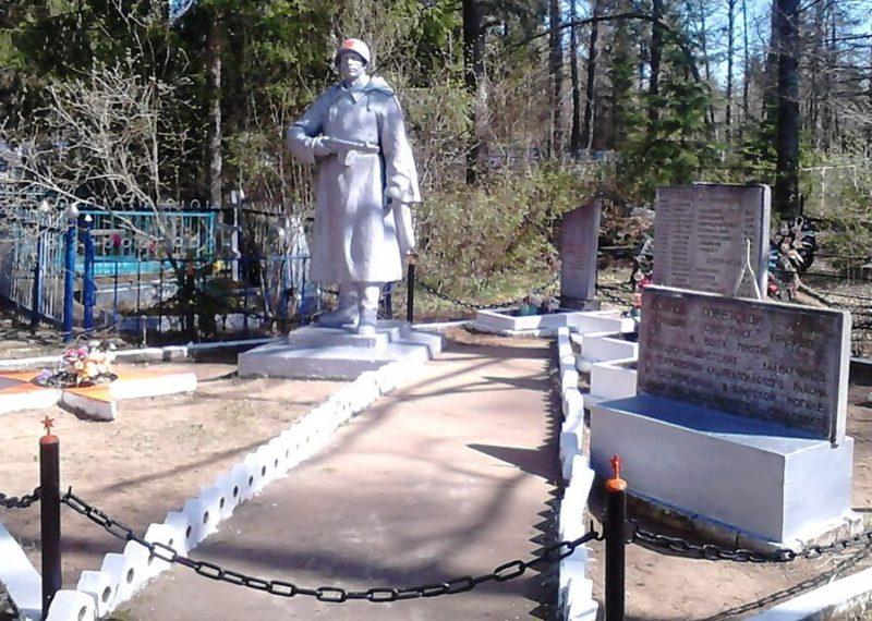 п. Бологово Андреапольского городского округа. Памятник, установленный на братской могиле советских воинов, погибших в годы войны.