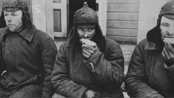 Советские военнослужащие в финском плену. 1939 г.