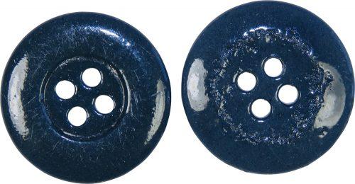 Пуговица синего окраса керамическая для Люфтваффе диаметром 22 мм.