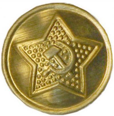 Пуговицы РККА образца 1924 года, изготовленные из латуни с крупной шагренью.