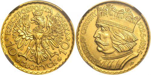 10 и 20 довоенных польских злотых в золоте. Такие монеты также находились среди эвакуированных ценностей.