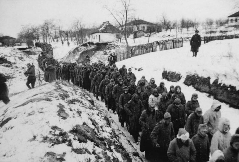 Колонна немецких военнопленных из «котла».