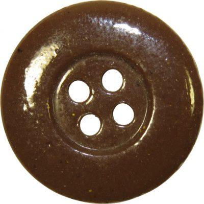Керамическая пуговица коричневого цвета диаметром 23 мм для камуфляжа и летних курток, а также для флигерблуз Люфтваффе.