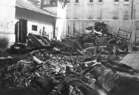 Евреи, убитые во время погрома в Тернополе. Июль 1941 г.