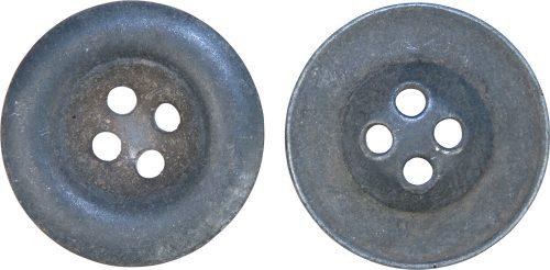 Цинковые пуговицы диаметром 23 мм .