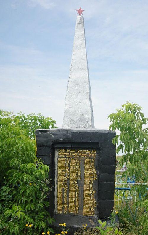 с. Марковка Кобелякского р-на. Памятник воинам-землякам, погибшим в годы войны.