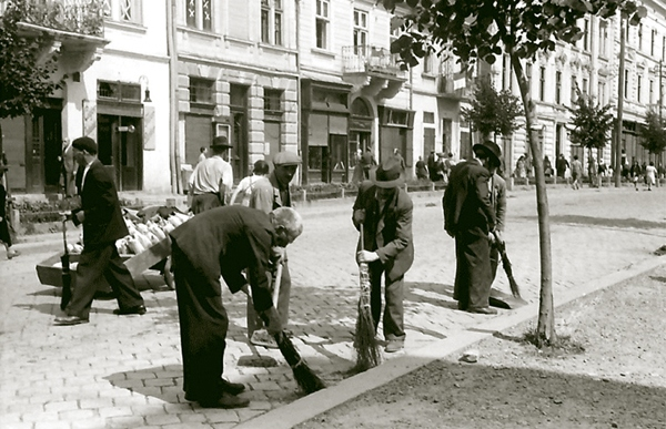 Евреи на общественных работах. Осень 1941 г.