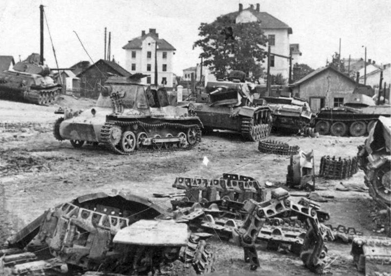 Разбитая бронетехника. 1941 г.