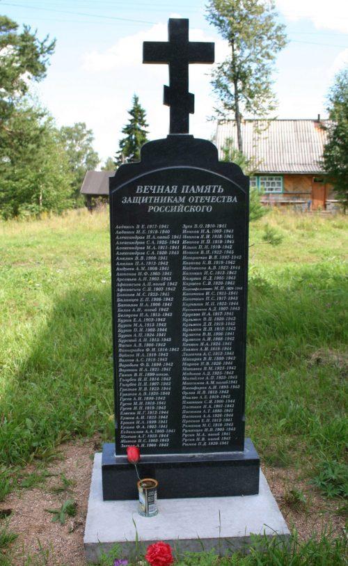 с. Княжиха Бежецкого р-на. Памятники погибшим односельчанам.