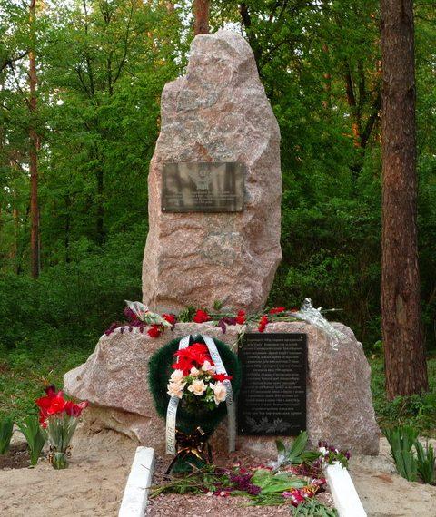 г. Лохвица. Памятник партизанскому отряду «Сокол», установленный в 2009 году.