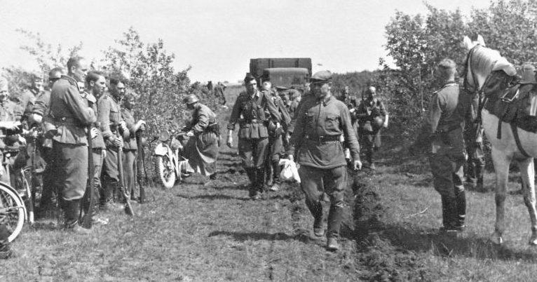 Первый красноармеец, пленённый в ходе приграничных боев. Июнь 1941 г.