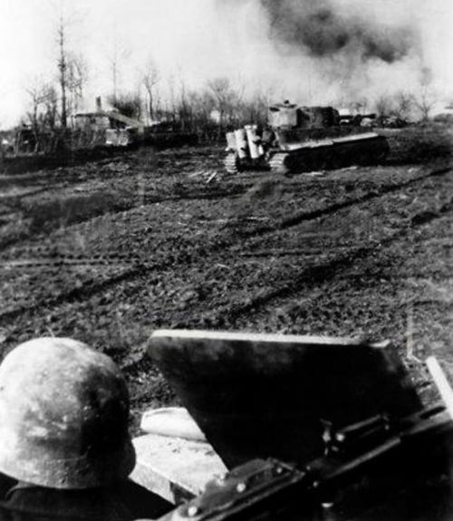 Немцы в обороне у Тарнополя. Март 1944 г.