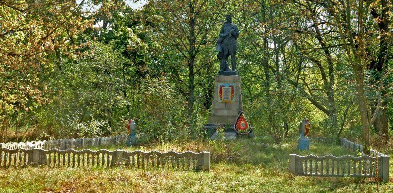 с. Говтва Козельщинского р-на. Памятник, установленный на братской могиле, в которой похоронен 31 советский воин.