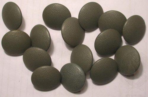 Пуговицы улучшенного исполнения в полевом окрасе диаметром 19 мм.