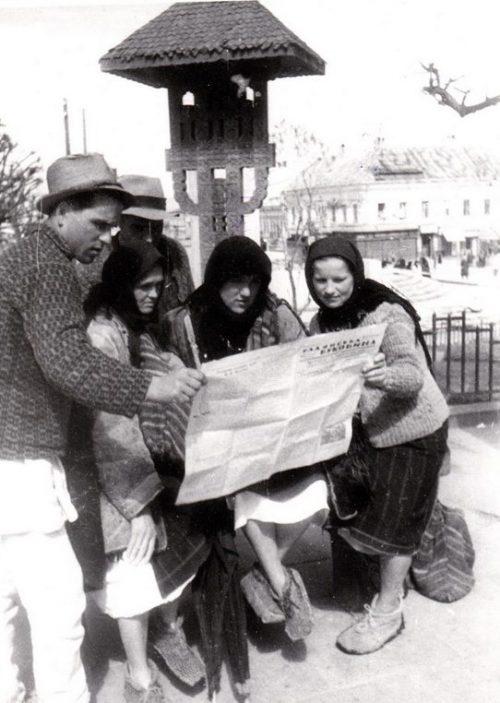 Первая советская газета в городе. Апрель 1944 г.